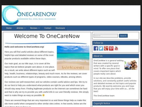 onecarenow.org